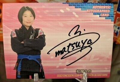 Matsuya Uno 2021 BBM Women's Pro Wrestling Card Autograph /98