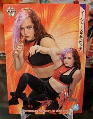 Masha Slamovich 2021 BBM Women's Pro Wrestling Base Card