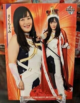 Emi Sakura 2021 BBM Women's Pro Wrestling Base Card
