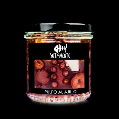 Pulpo de las Rías Gallegas al ajillo con Aceite de Oliva Virgen Extra (AOVE) - Sotavento Conservas Artesanas