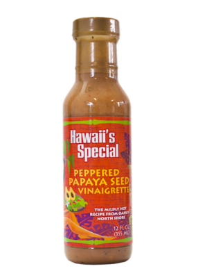 Peppered Papaya Seed Vinaigrette Dressing, 12 oz