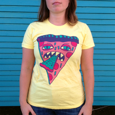 Womens Canabalistic Pizza Shirt