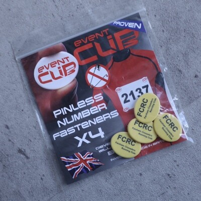 Race Number Clips