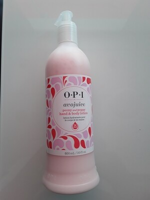 Crème mains et corps Avojuice peony and poppy 600ml