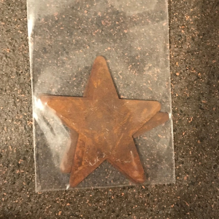 Rustic Star - 2 inch rounded - QTY 2