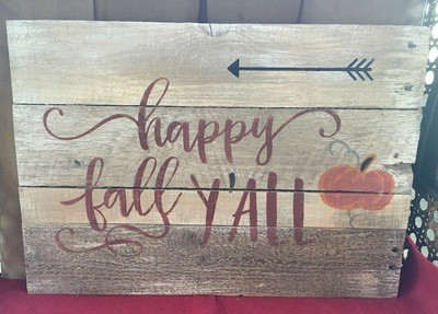 Pallet Sign - Happy Fall Y'all