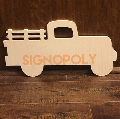 Unpainted Vintage Truck