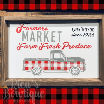 Double Sided Farmhouse Sign