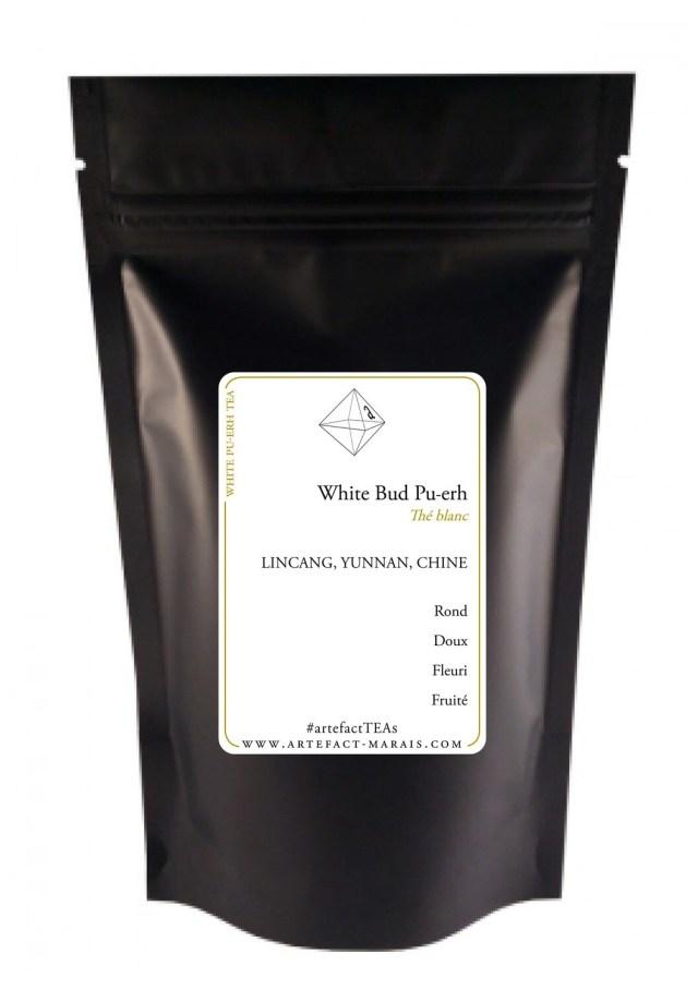 White Bud Pu-erh Tea [Thé blanc de Chine] : Paquet de 50g