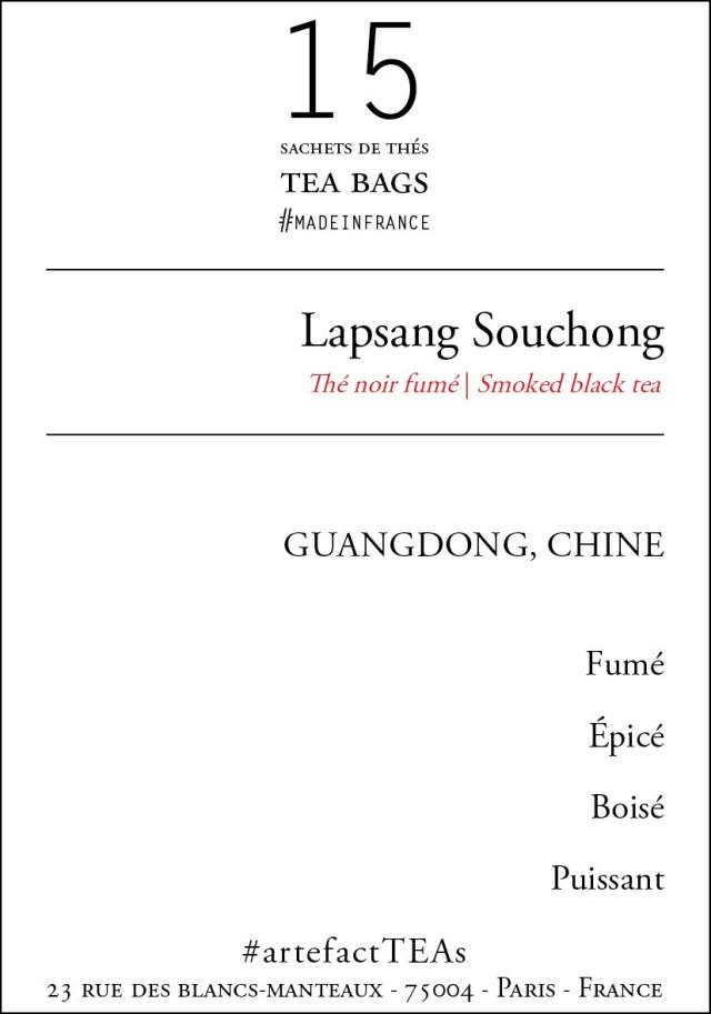 x15 Lapsang Souchong Sachets de Thés / Tea Bags