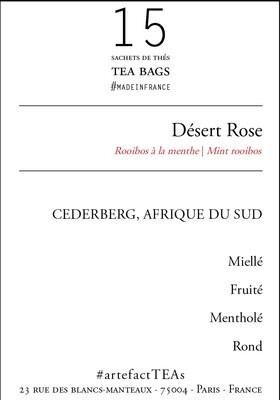Désert Rose [Rooibos menthe] Sachets de Thés / Tea Bags