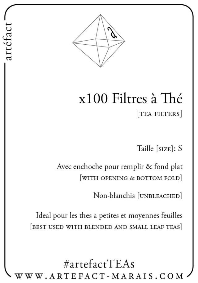 x100 Filtres à thé | Tea Filters