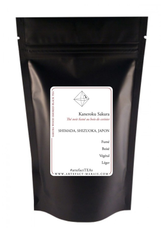 Kaneroku Sakura [Thé noir fumé du Japon] : Paquet de 50g