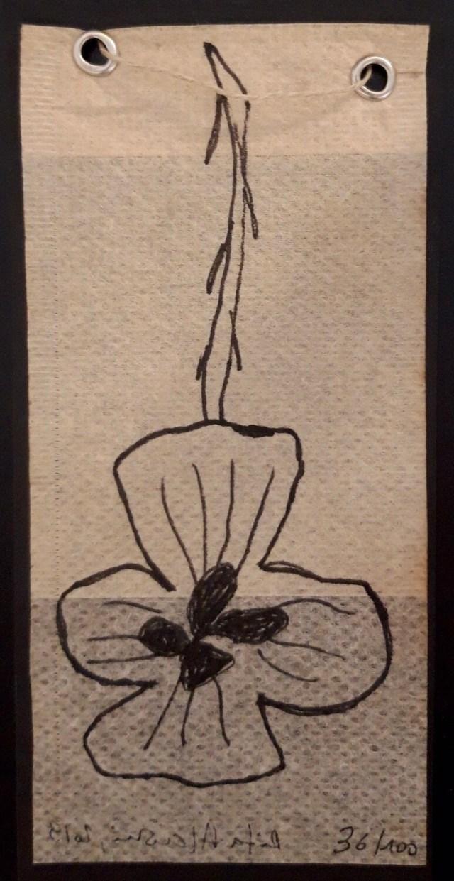 Tea Bag Drawing #36 | Rita Alaoui