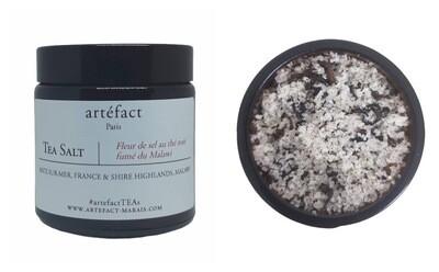 Fleur de sel au thé noir fumé du Malawi [90g en jarre ambré]