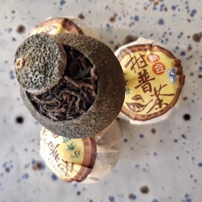 [×5] Xiao Qing Gan Pu'Er Mandarine : Thé Pu'Er Cuit [Shu]