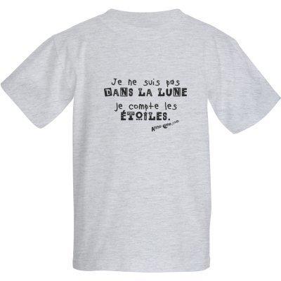 T-shirt enfant lune (taille XS) *PRIX RÉDUIT!