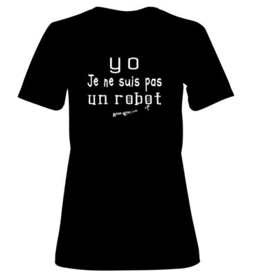 T-shirt femme modèle robot (taille S) *PRIX RÉDUIT!