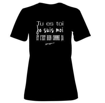 T-shirt femme modèle toi-moi (taille XL) *PRIX RÉDUIT!