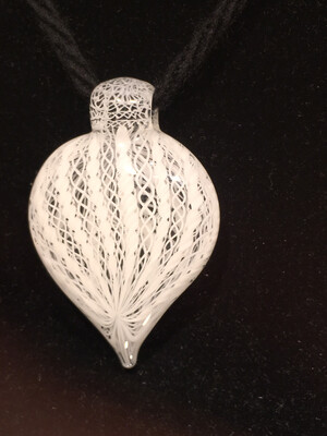Harold Cooney White Zanfirico Pendant