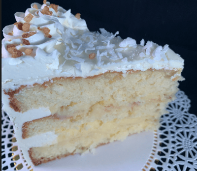 Rum Coconut Tropical Escape Cake