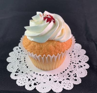 Gluten-Free Vanilla Raspberry Cupcakes 1/2 Doz