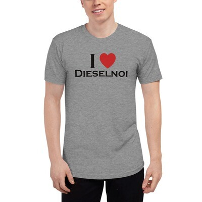 I Heart Dieselnoi (Light), incls XS - Tri-Blend Track Shirt variation