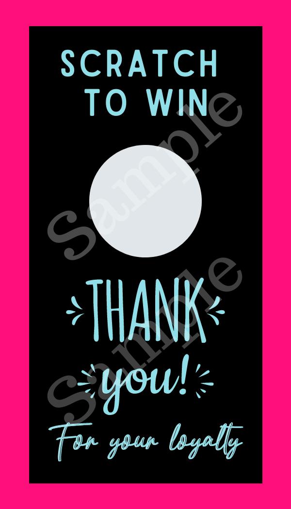 Color Street Scratch off card