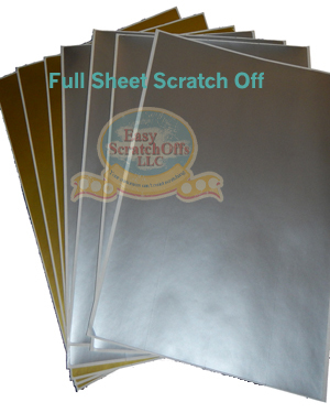 Full Sheet Scratch off stickers