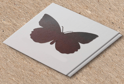Butterfly scratch off stickers, set of 100