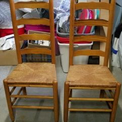 Antique Ladder Back Chairs With Rush Seats Chaise For Sale 2 Antiques In Warwick Ri