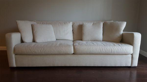crate and barrel verano sofa cover change bangalore white from furniture in fairfax va