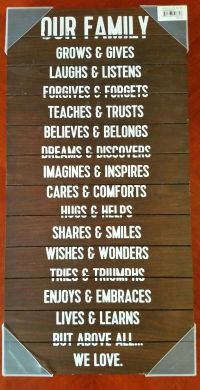 """""""Our family """" wall decor/art (Home & Garden) in Snohomish ..."""