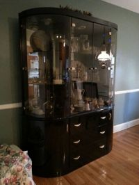 Black Lacquer China Cabinet and dining room set (Furniture ...