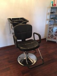 All purpose hydraulic chair and shampoo bowl (Beauty ...
