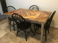 Rustic refinished Kitchen Table w/ Pallet Wood! (Furniture ...