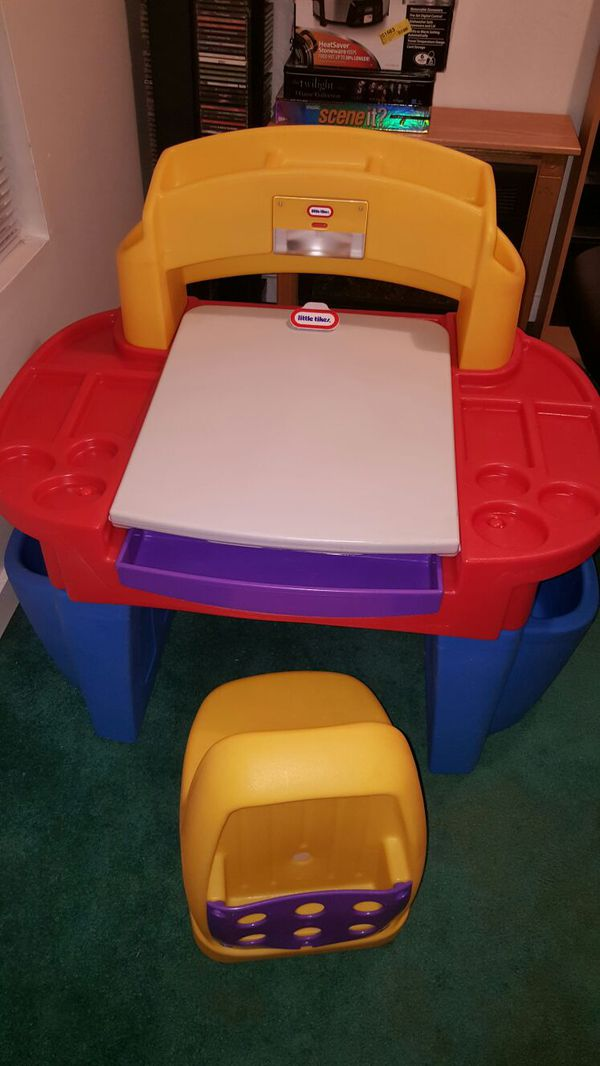 desk chair offerup outdoor cusions little tikes art with easel light and (baby & kids) in louisville, ky