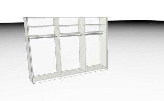 Kleiderschrank   L1000, 302 x 223 cm   Weiß   Segmüller ...