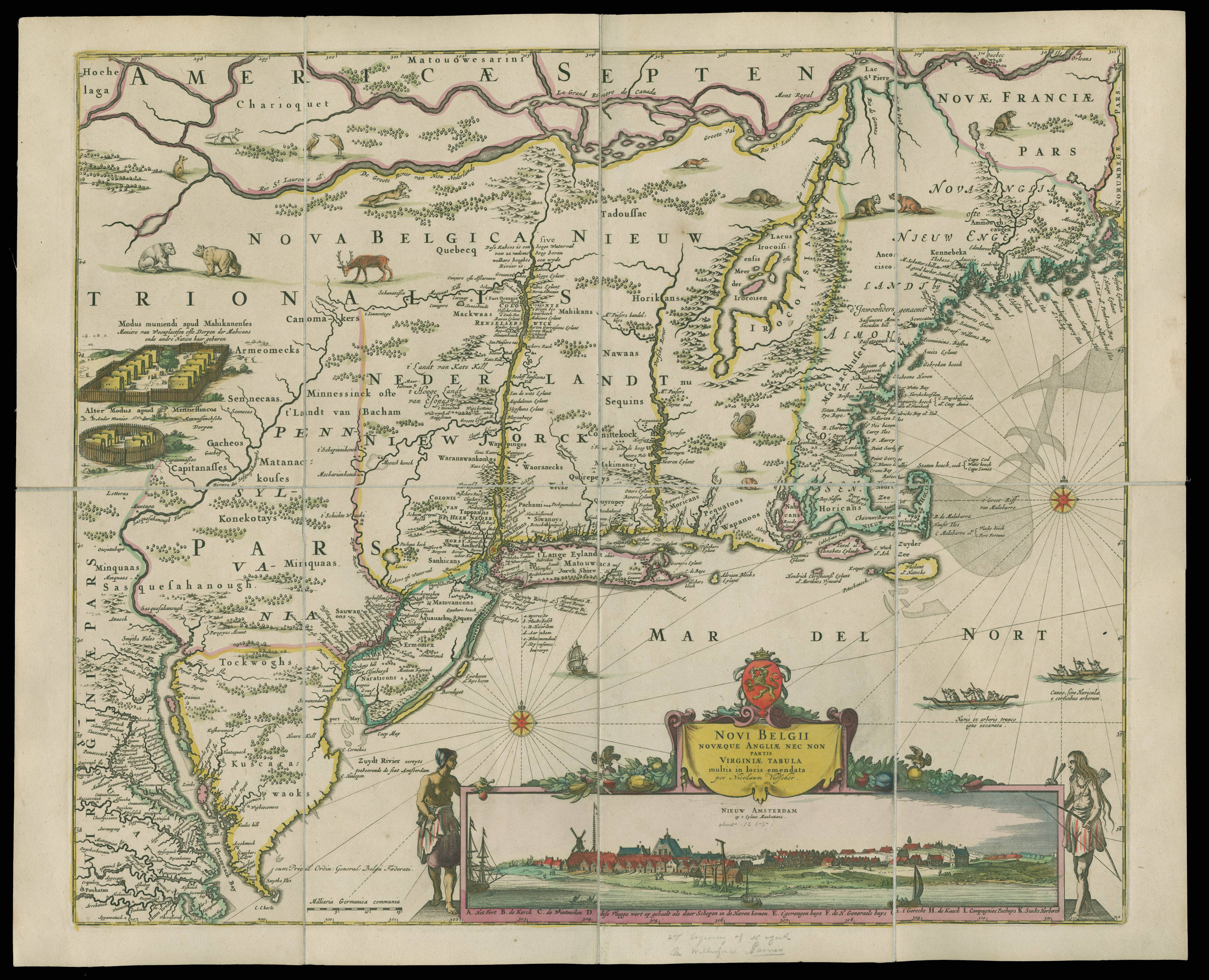 A Dutch Map Depicting North America From Present Day