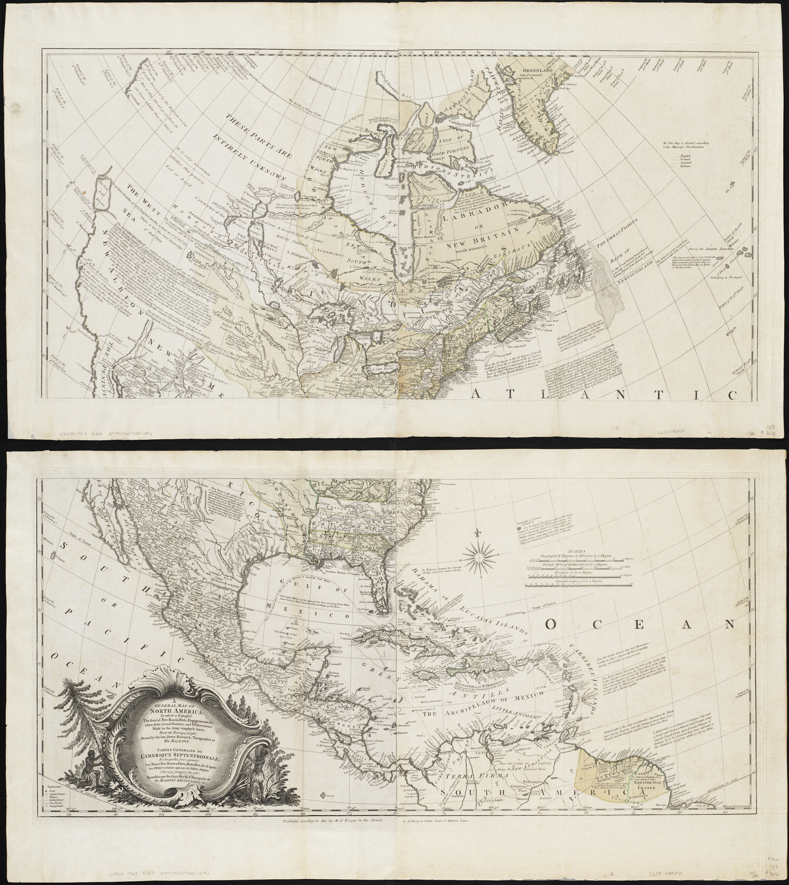 A French Map Of Pre And Post War North America