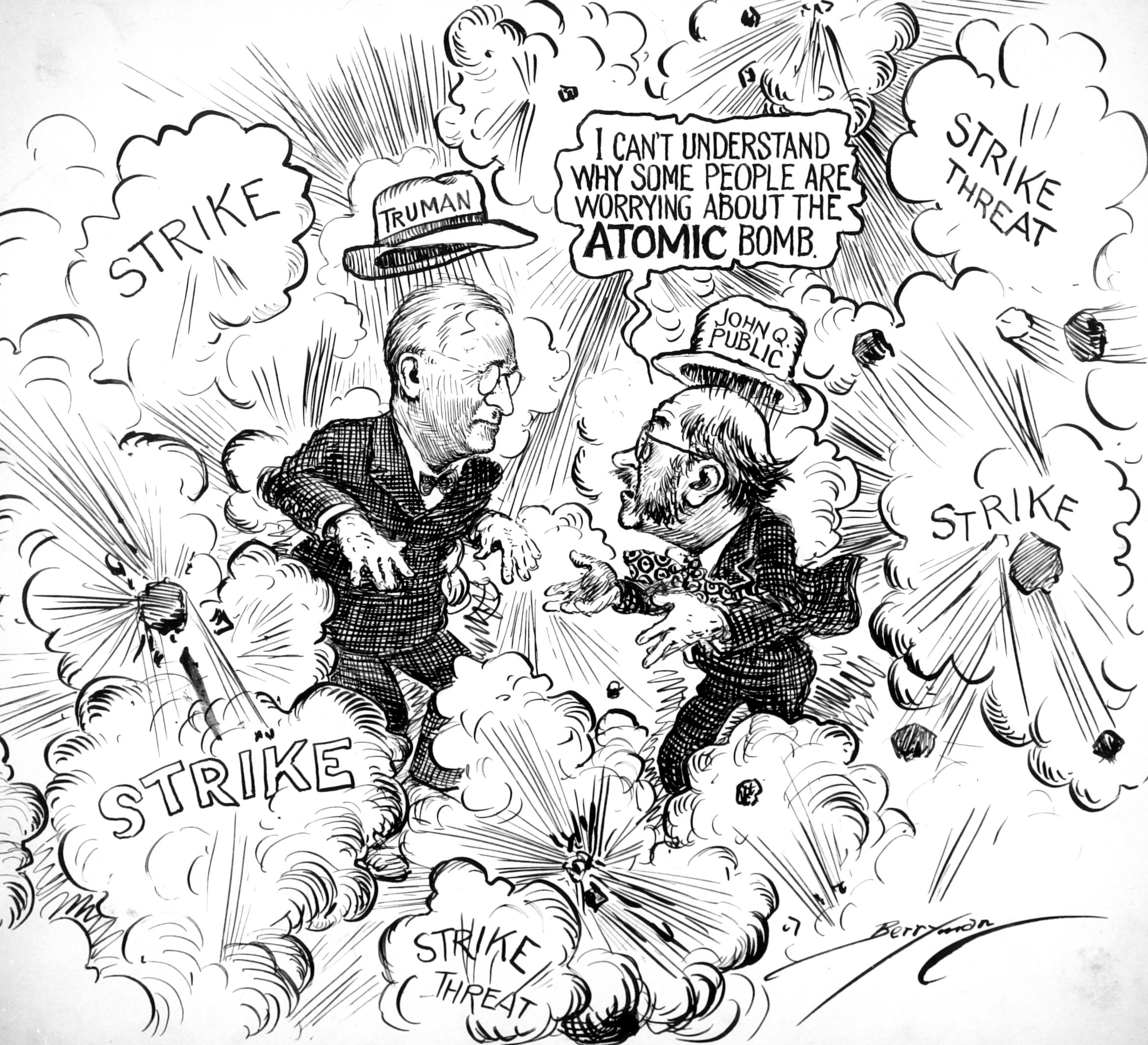 A political cartoon by Clifford Berryman about the