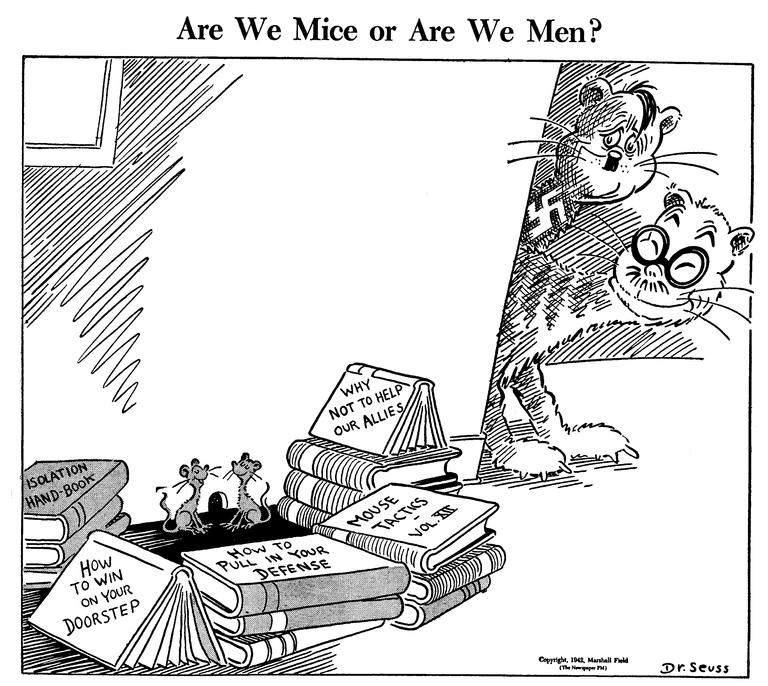 A political cartoon about World War II by Dr. Seuss, 1942