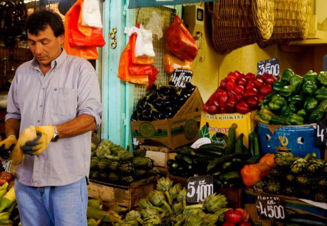 Un marché à Santiago du Chili