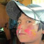 Geschminkte Kindergesichter in Quilotoa