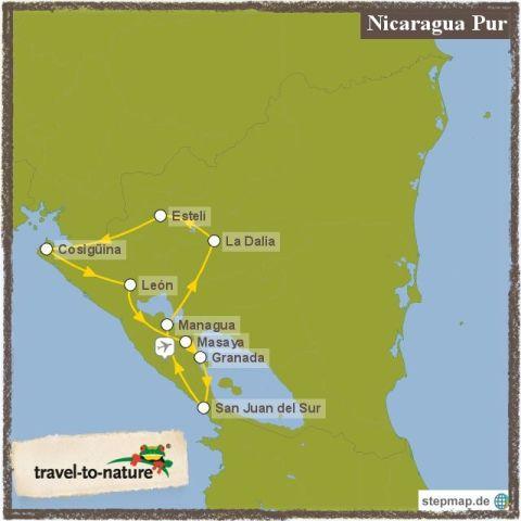 Landkarte-NicaraguaPur