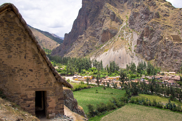 View from the ruins in Ollantaytambo, Peru