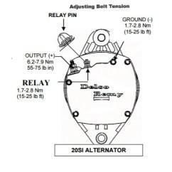 Delco Remy Alternator Diagram Eye In Digital Communication 1117619 By 20si 24v 50a