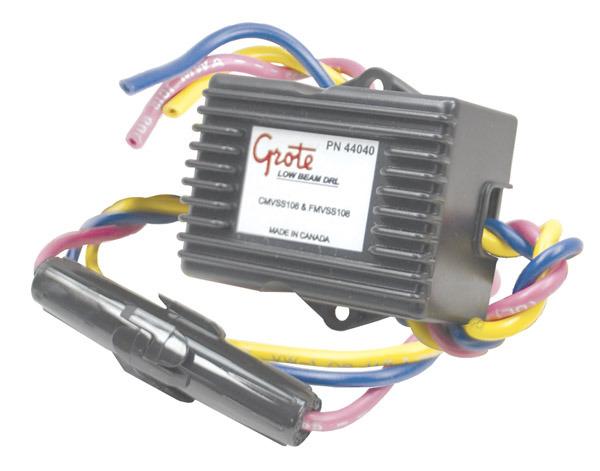 truck lite 97300 wiring diagram track lighting 44040 by grote basic daytime running light module black