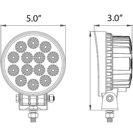 Round Led Truck Lights Spot Truck Lights Wiring Diagram