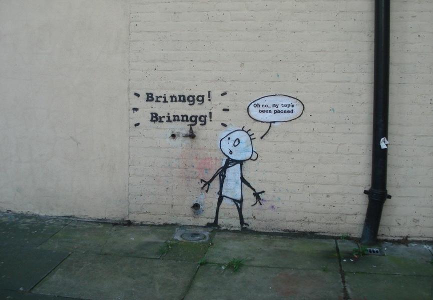 Wallpaper Falling Off Wall 10 Banksy Street Art Pieces In London Widewalls